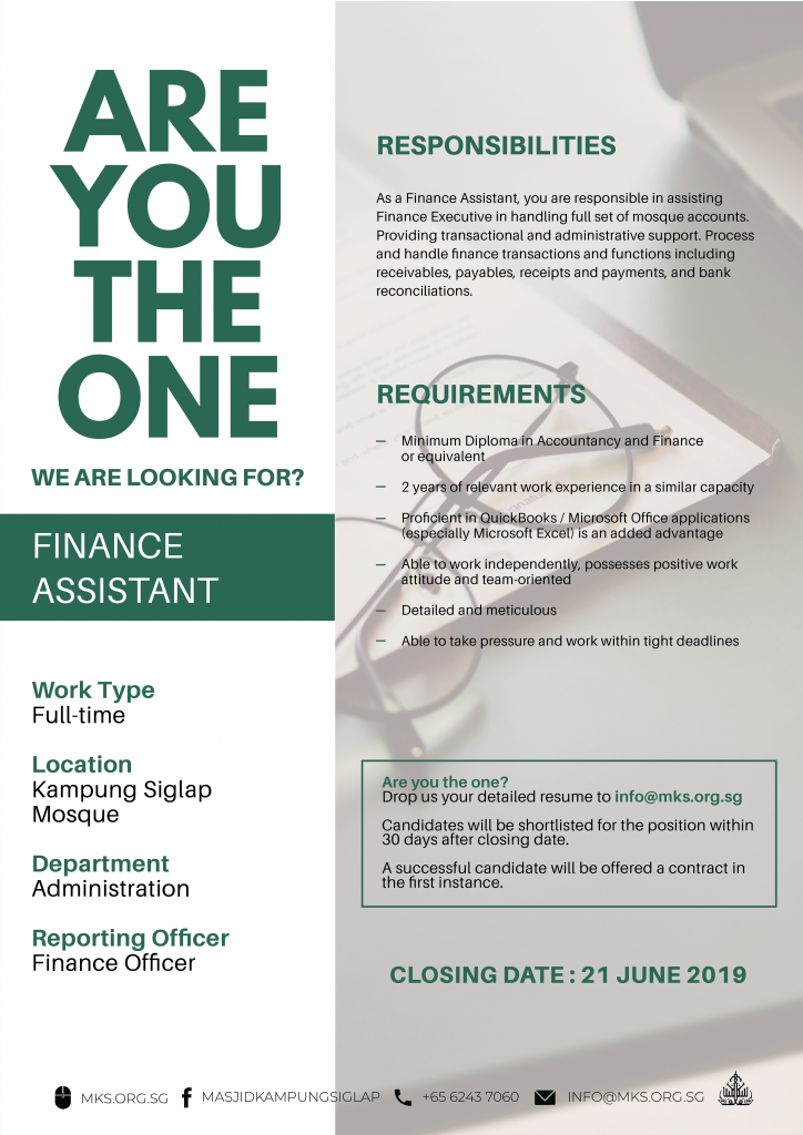 MKS_Job_Advert_template_Finance Assistant